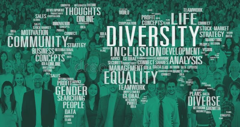 Różnorodności pochodzenia etnicznego społeczności Światowy Globalny pojęcie ilustracja wektor