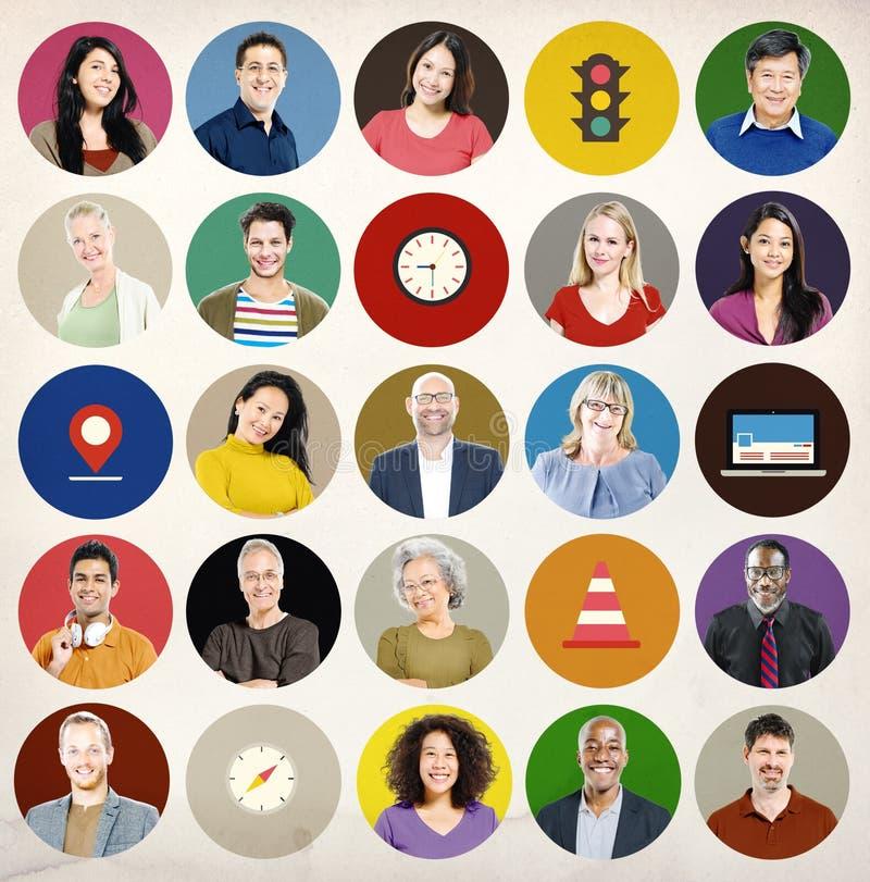 Różnorodności społeczności transportu ruchu drogowego Podróżny pojęcie ilustracji