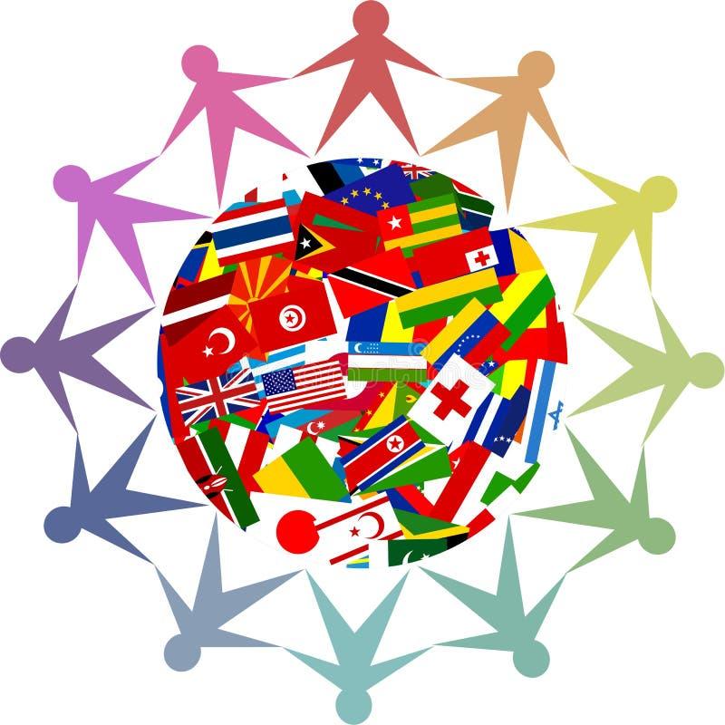 różnorodny świat ilustracja wektor