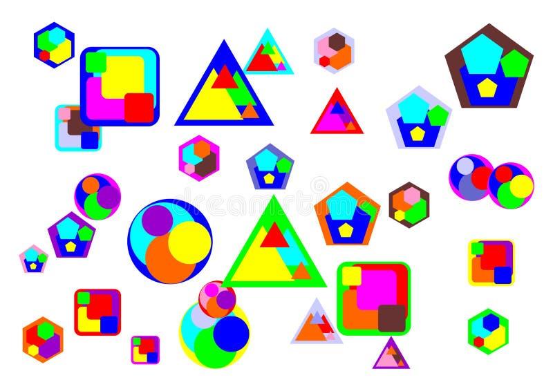 Różnorodny Abstrakcjonistyczny przedmiot i kształt obrazy stock