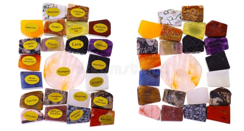 Różnorodny kamienia wzór Porównuje - stół - ilustracja wektor