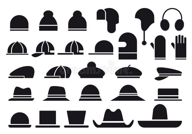 różnorodny kapeluszu wektor ilustracja wektor