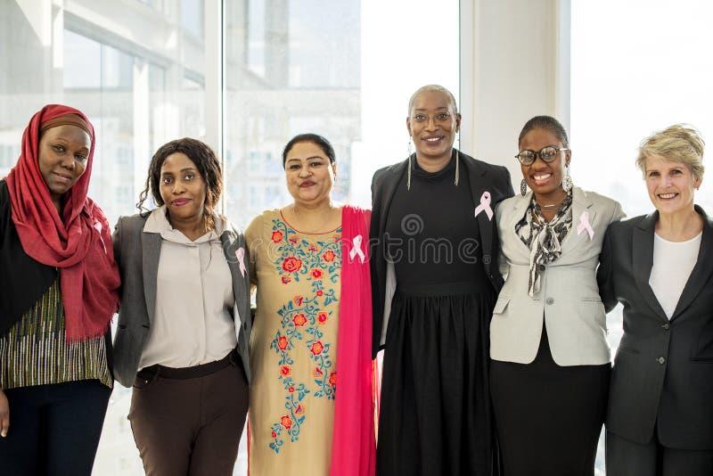 Różnorodny kobiet Wpólnie partnerstwa faborek zdjęcie stock