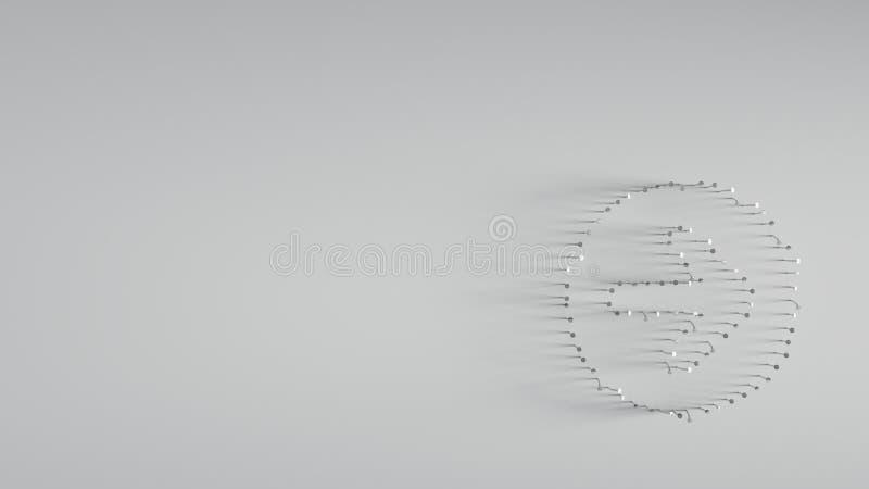 różnorodny metali gwoździe w kształcie prawa strzała obraz stock