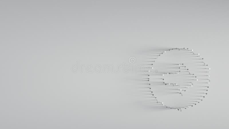 różnorodny metali gwoździe w kształcie prawa strzała zdjęcie royalty free