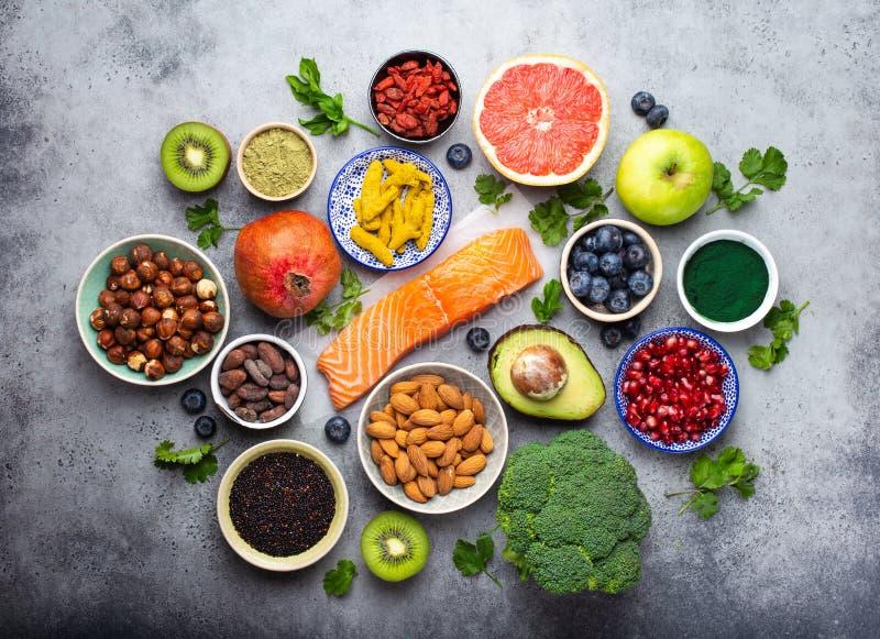 Różnorodny superfoods wybór zdjęcie stock