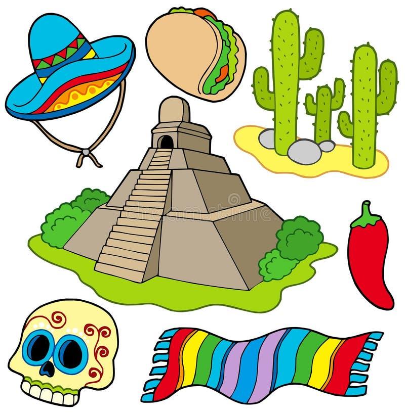 różnorodny wizerunku meksykanin ilustracja wektor