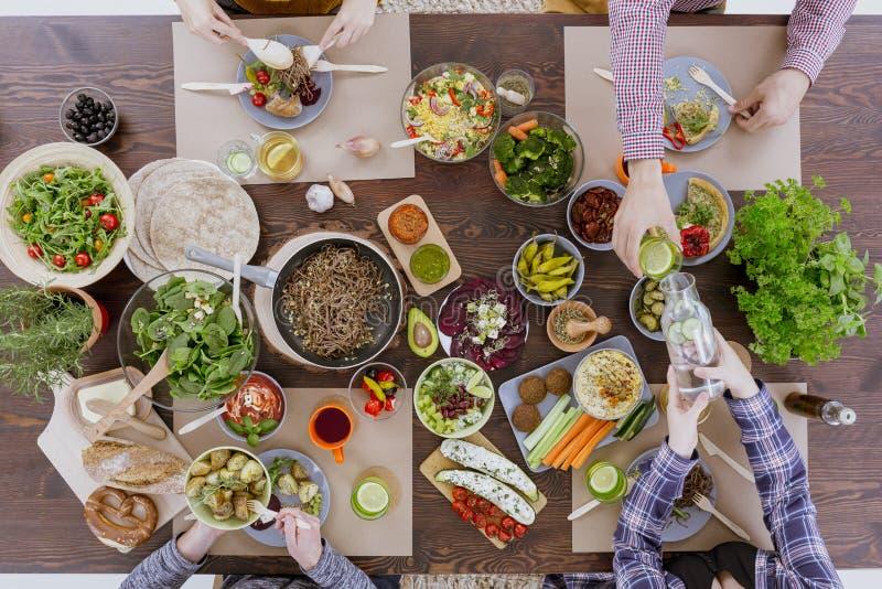 Różnorodny zdrowy jedzenie na stole zdjęcie royalty free