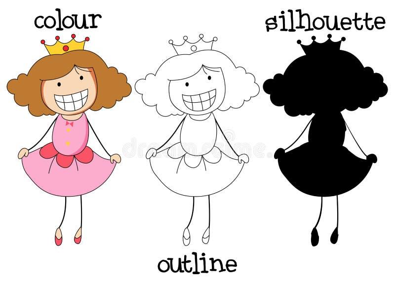 Różny grafika styl doodle książe ilustracja wektor