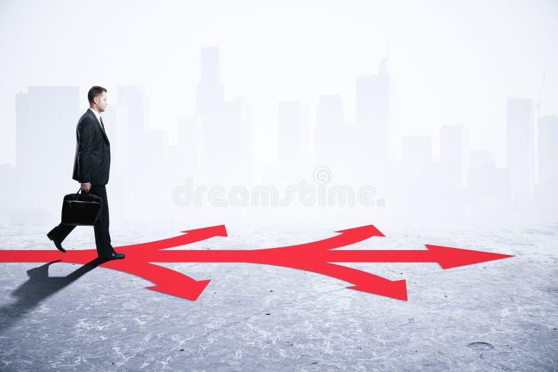 Różny kierunku i wyboru pojęcie obraz stock