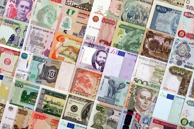 różny kraju pieniądze fotografia royalty free