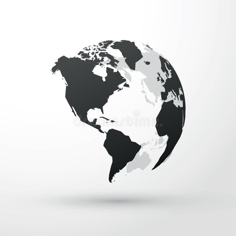 różny kuli ziemskiej ilustraci wektor przeglądać świat royalty ilustracja