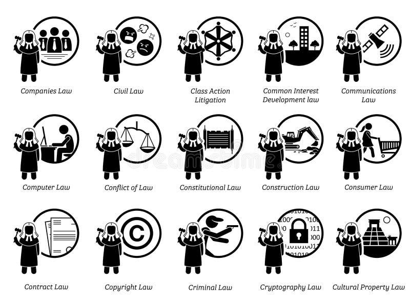 Różny typ prawa Część 2 7 ilustracja wektor