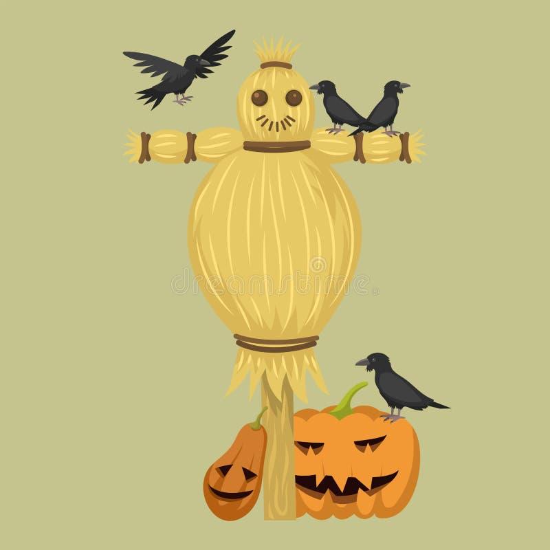 Różnych lal charakteru gry sukni i gospodarstwa rolnego strach na wróble lali wektoru zabawkarska ilustracja royalty ilustracja