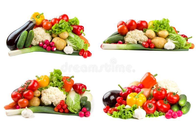 różnych zestawów warzywa obrazy stock
