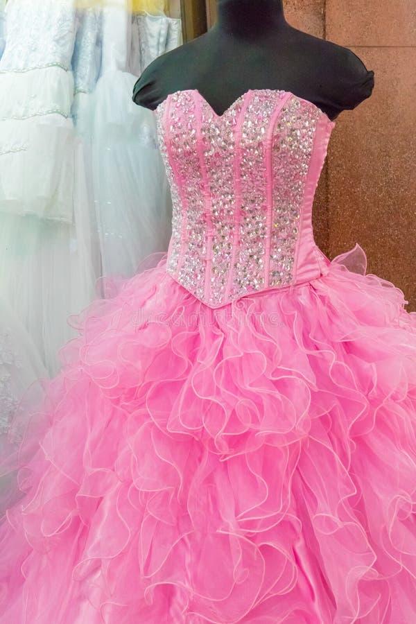 Różowa bridal suknia Kolumbia zdjęcia royalty free