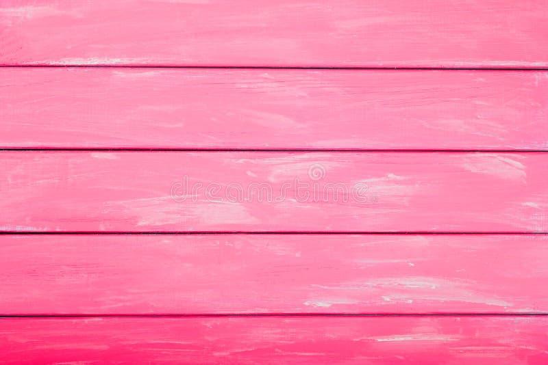 Różowa czerwień barwił drewnianego tło, abstrakcjonistyczny drewniany tło dla projekta obrazy stock