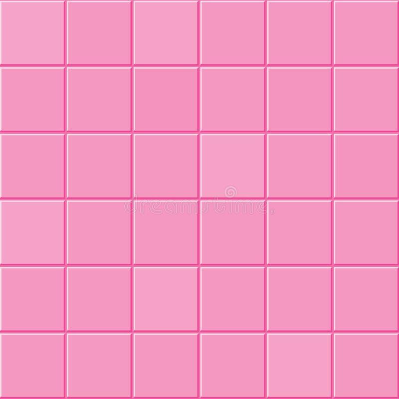 Różowa dachówkowa tekstura royalty ilustracja