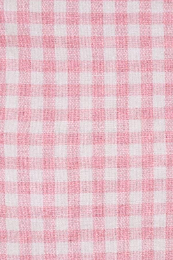 Różowa gingham tkanina zdjęcia stock