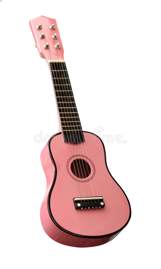 Różowa gitara zdjęcie royalty free
