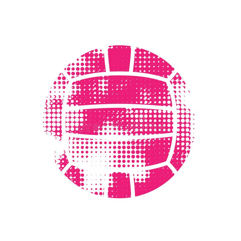 Różowa halftone wodnego polo piłka ilustracji