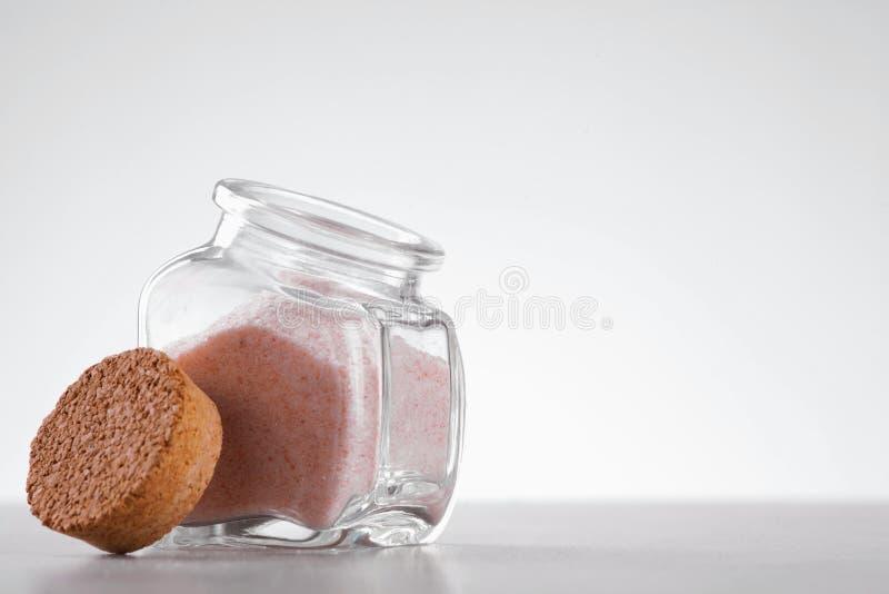 Różowa himalajska sól fotografia stock