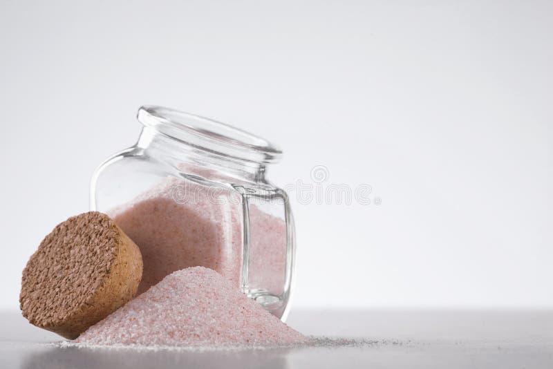 Różowa himalajska sól obraz stock