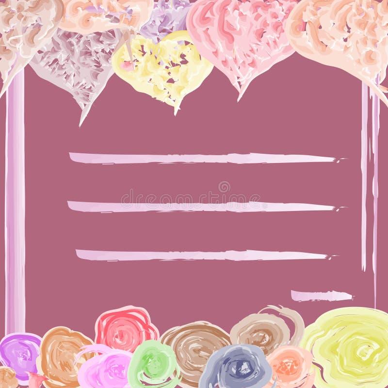 Różowa karta dla kochanków dla wakacje zdjęcia stock