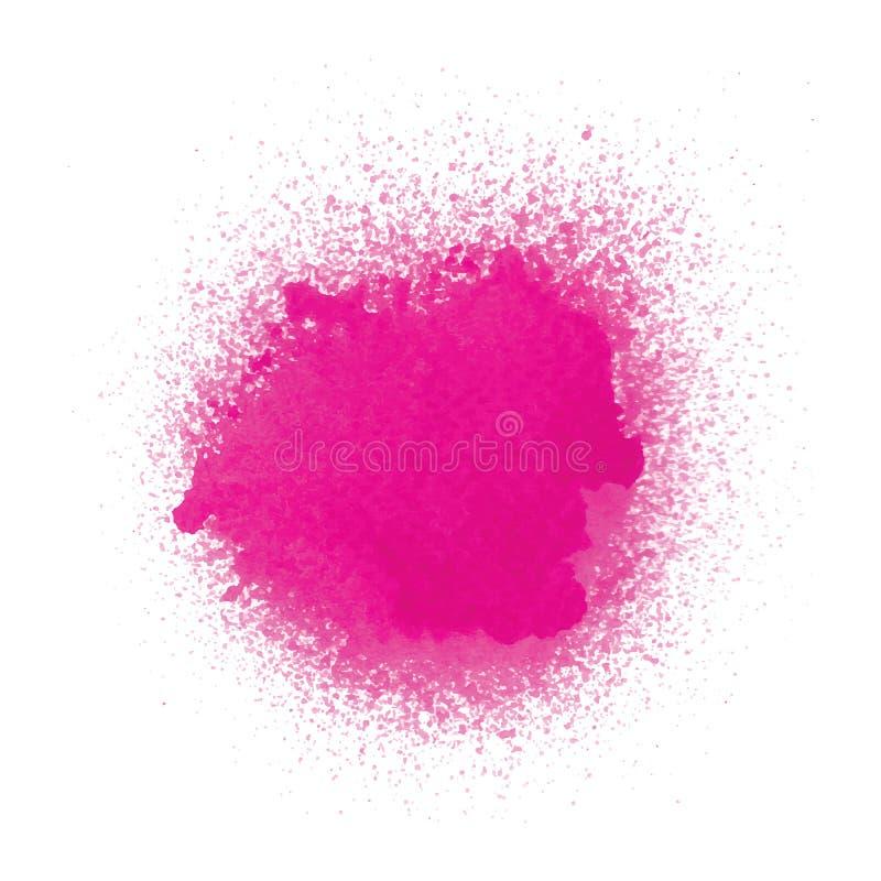 Różowa kiści farba na białym tle ilustracji