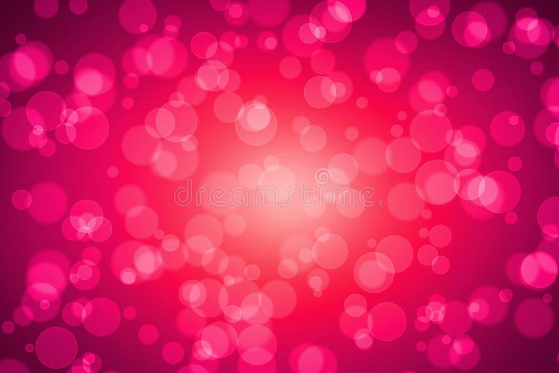 Różowa kolor plama Bokeh dla tła ilustracja wektor