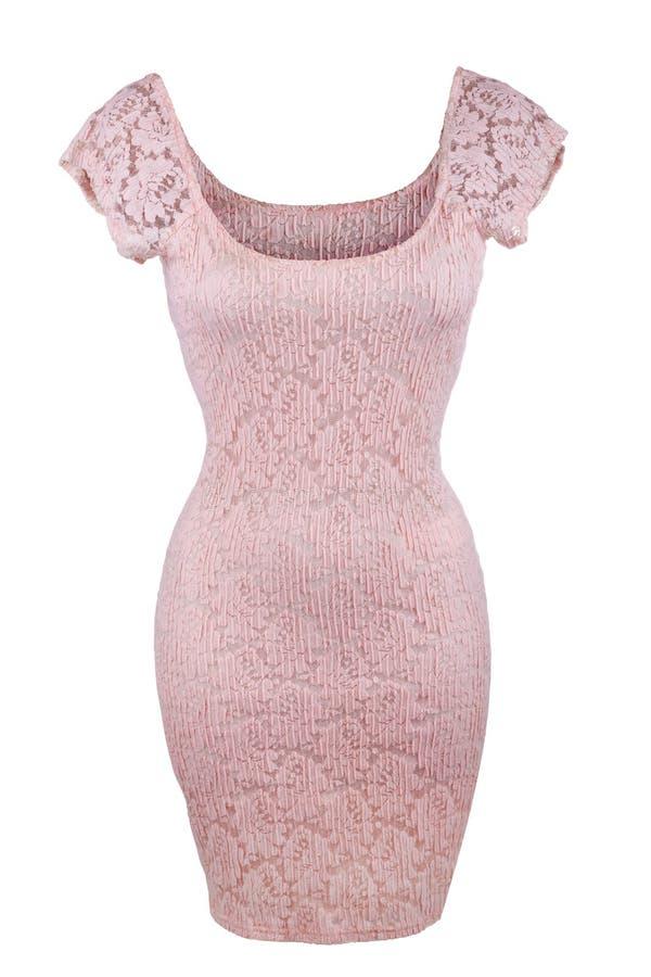 Różowa koronki suknia obrazy stock