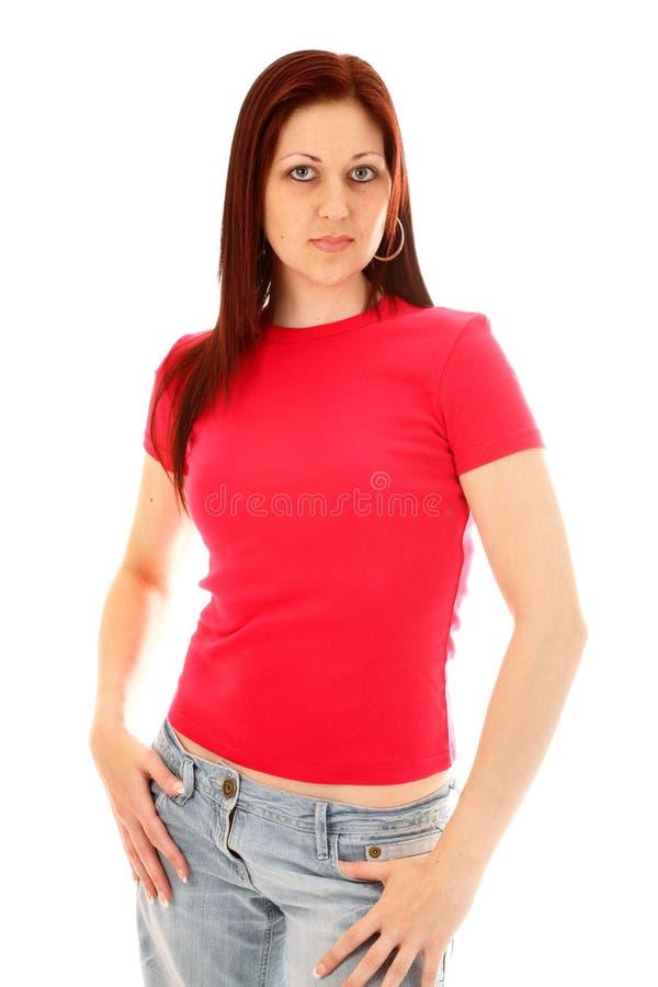 różowa koszulka t obrazy royalty free