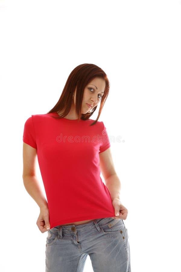 różowa koszulka t zdjęcia royalty free