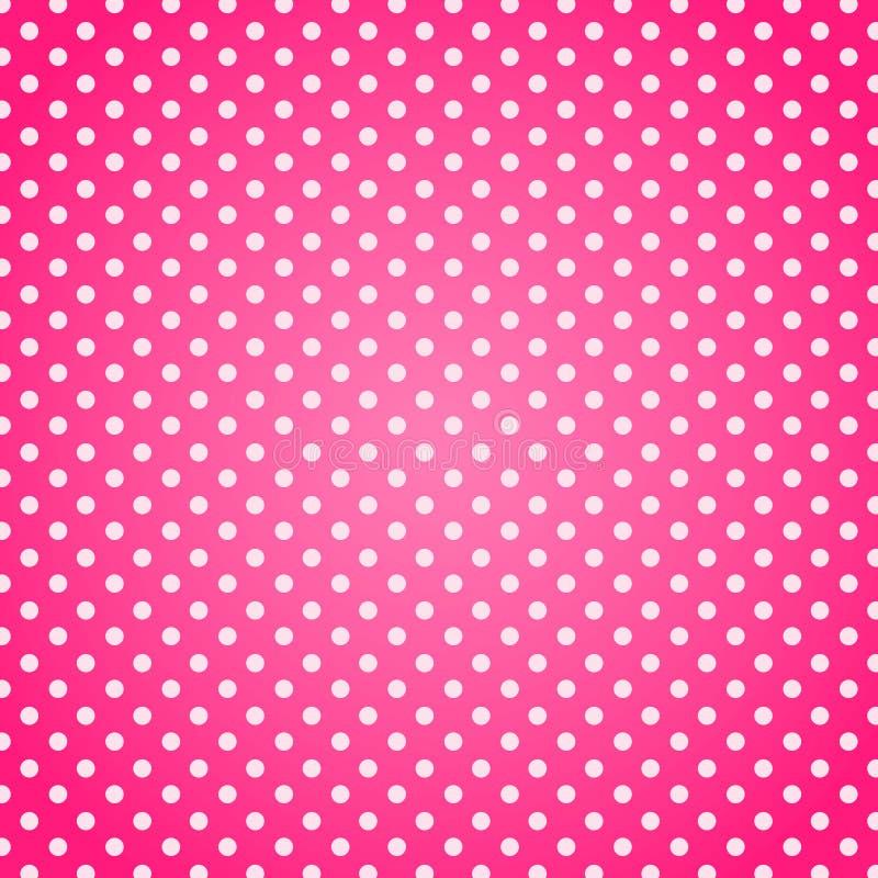 różowa kropek polka tło ilustracja wektor