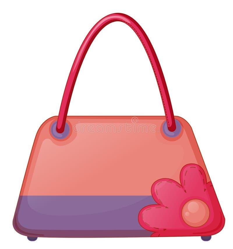 Różowa mody torba ilustracja wektor