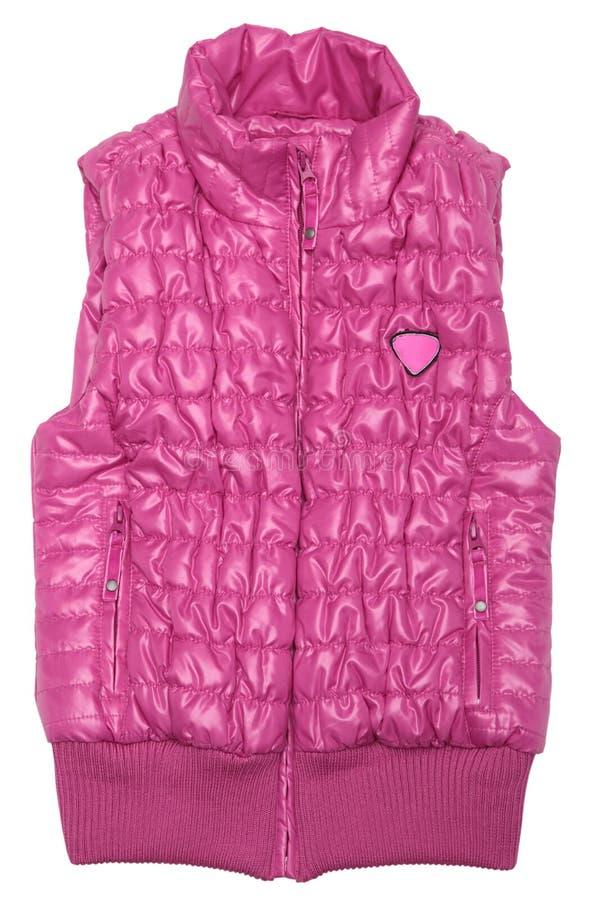 różowa narciarska kamizelka zdjęcie stock