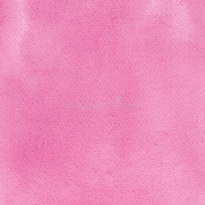 Różowa naturalna handmade aquarelle obrazu tekstura, pionowo textured akwarela papieru zakończenia makro- kopii astronautyczny tł zdjęcie stock