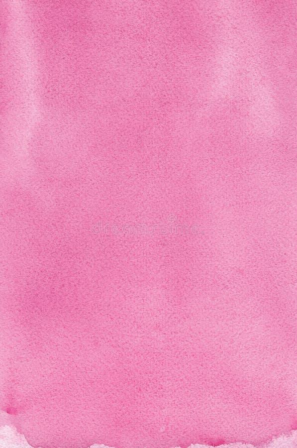 Różowa naturalna handmade aquarelle obrazu tekstura, pionowo textured akwarela papieru zbliżenia kopii przestrzeni tła makro- far obraz royalty free