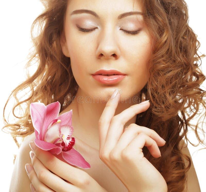 różowa orchidei kobieta fotografia royalty free