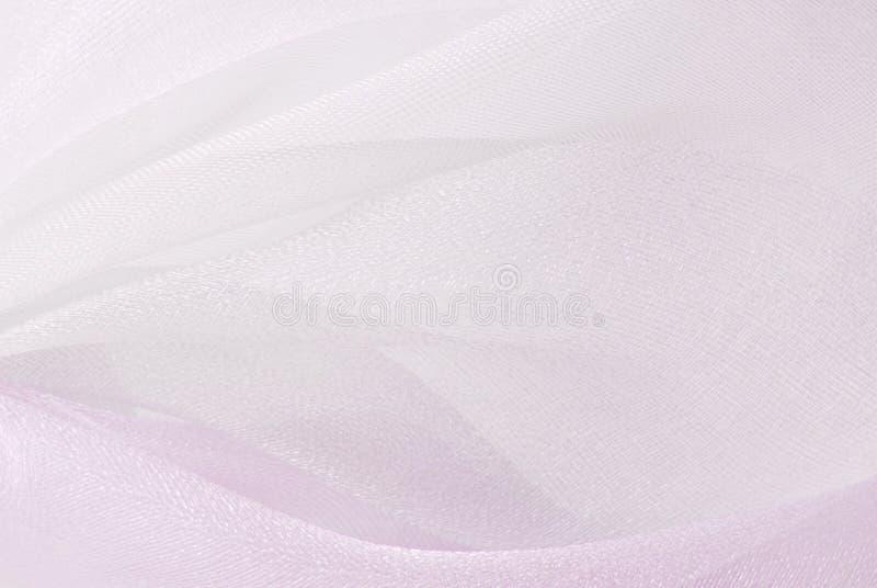 Różowa organza tkaniny tekstura zdjęcie stock