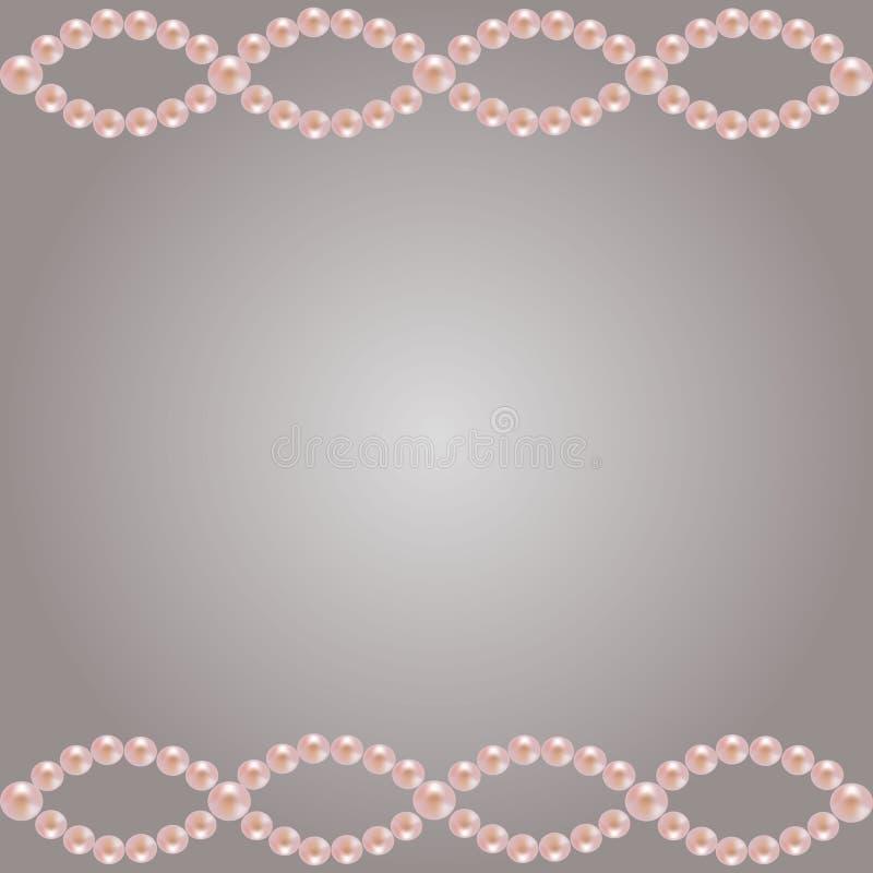 Różowa perły granica zdjęcie stock