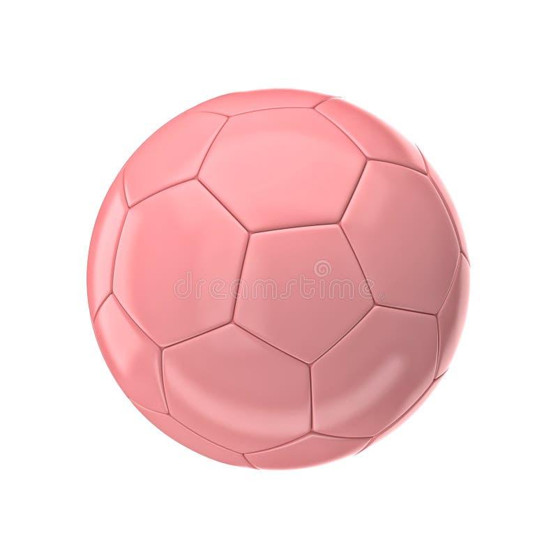 Różowa piłki nożnej piłka ilustracja wektor