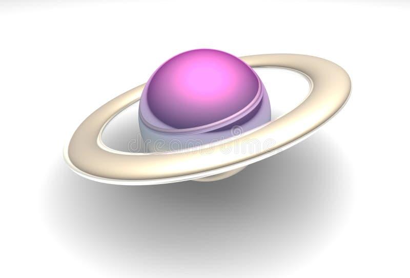 różowa planety royalty ilustracja