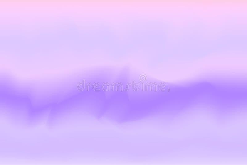 Różowa purpurowa kolorowa obraz akwareli tło sztandaru sztuka ilustracja wektor