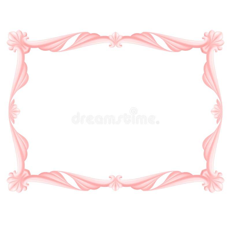 Różowa rama royalty ilustracja