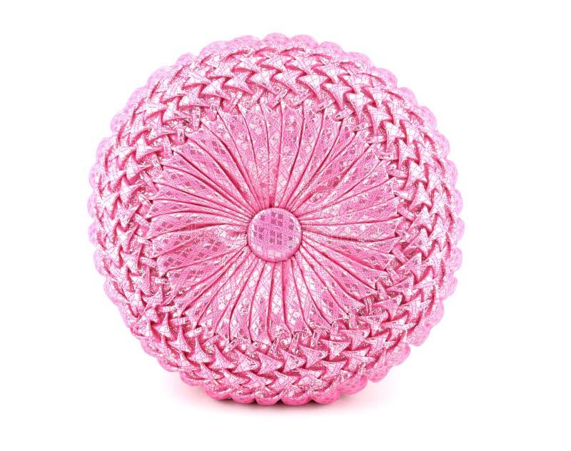 Różowa Round poduszka zdjęcie royalty free