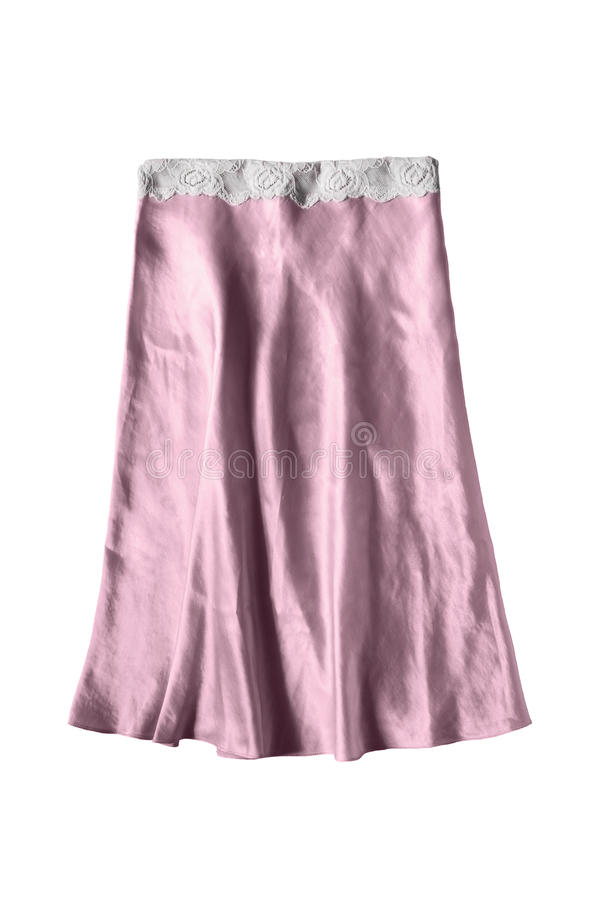 Różowa spódnica odizolowywająca zdjęcia stock