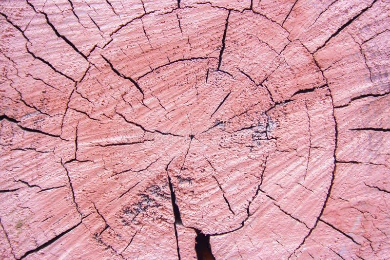 Różowa stara starzejąca się i pękająca rżnięta drewniana tekstura Textured i wietrzejący rżnięty drzewny tło grunge zdjęcia stock