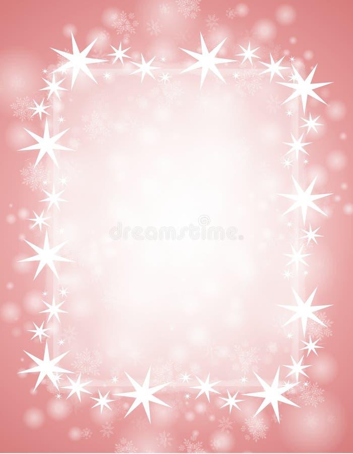 różowa tło zima ilustracja wektor