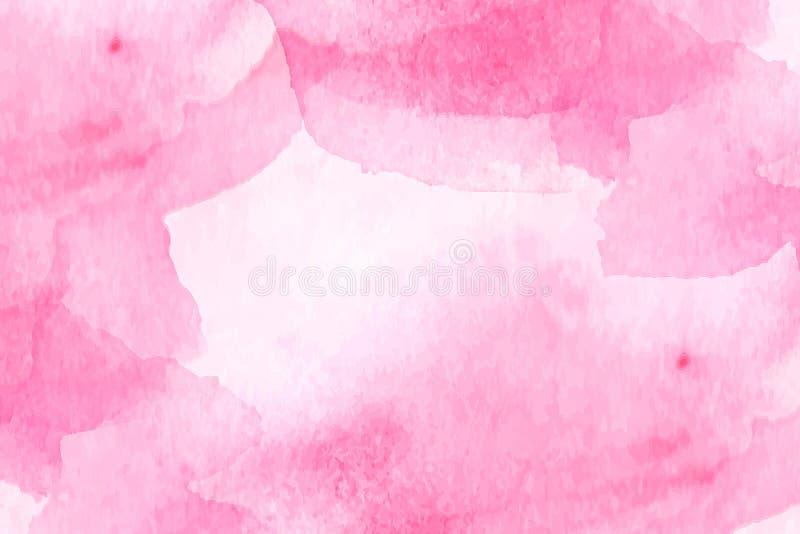 Różowa tekstura z bielem plami naśladowanie akwarelę ilustracja wektor
